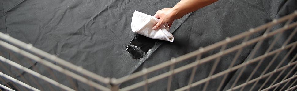Mat - Large 8 Side Base Liner Heavy Duty Waterproof Black Universal Pet Pen Run