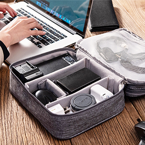 Travel Cable Organiser Bag,Doppelschicht Electronics Accessories Organizer Bag