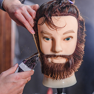 HAIREALM Man Mannequin Head 100% Real Human Hair With