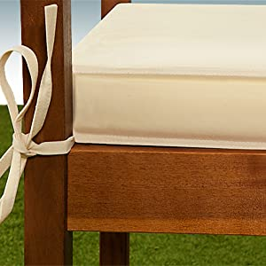 Groovy Deuba Garden Bench Cushion 2 Seater 110 X 45 Cm Pad Cover Detex Water Repellent Ties 100 Polyester Beige Gmtry Best Dining Table And Chair Ideas Images Gmtryco