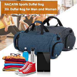 NACATIN Sports Duffle Bag is a highly developed fashionable bag when you  want to bring much items but Concerned that there is not enough  space 0a002b5100c2d