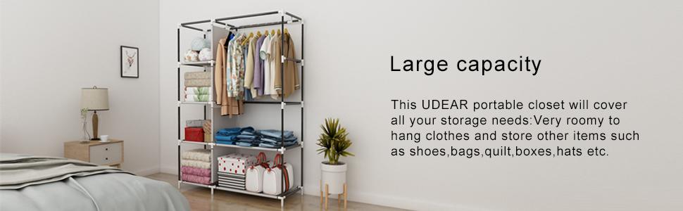 wardrobe clothes storage