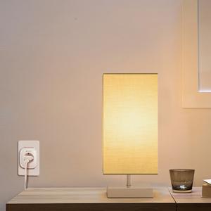 square fabric lamp