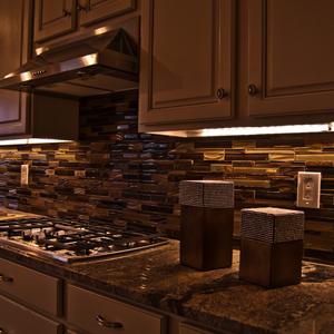 Under Cabinet Lights Led Cupboard Lighting Dimmable Remote Control Strip Lights 24 Leds 3 Pack