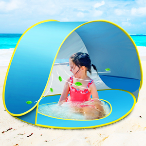 Details about Pop up Beach Tent Outdoor Automatic UV Protection Baby Portable Shade Sun Shelte