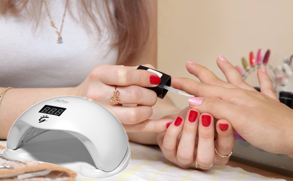 Upgraded SUN5 Plus 48W LED UV Nail Lamp Dryer with 4 Timers ...