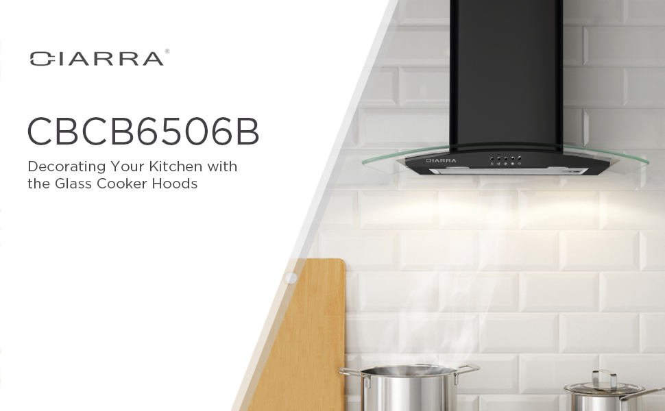Stainless steel and glass cooker hood 60cm