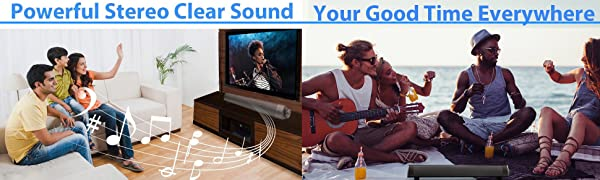 Sound Bar Wired and Wireless Bluetooth Home Theater TV Stereo Speaker 2.0 Channel Remote Control