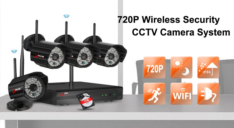 Anran Wireless Security Camera Syetem 4 Channel Wifi Nvr