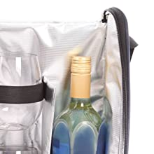 Corkscrew//Bottle Opener |Presentation Box Exclusive Wine Voucher Additional Cooler Pack for Super Chilled Wine Maroon Wine Cooler Bag with Two Beautiful Triton Stemless Glasses for NO Spill