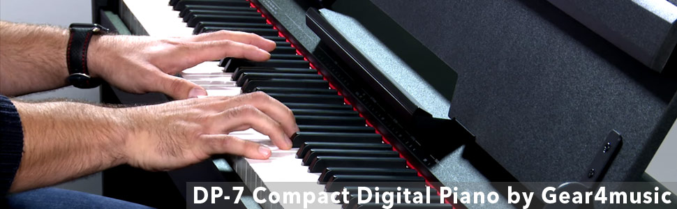 Dp 7 Compact Digital Piano By Gear4music White Amazon Co Uk Musical Instruments