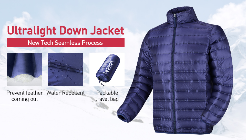 Men S Ultralight Down Jacket Packable Quilted Duck Feather