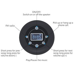 shower radio bluetooth speaker