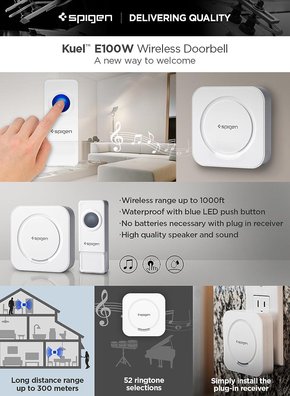 Wireless Doorbells Spigen Over 500 Ft Range Waterproof 50 Electrical Wiring In The Home Deaf Doorbell E100w