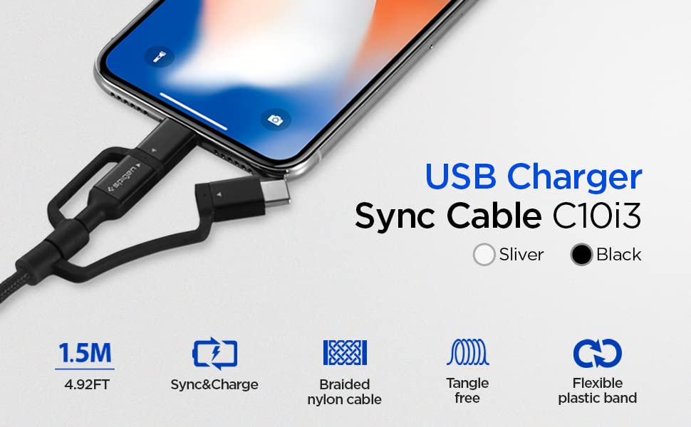 MFi Certified 3 in 1 Cable