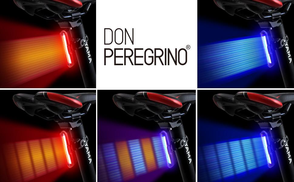 350 Lumens Brightness Headlight Ipx DON PEREGRINO Led Bike Front Light /& Horn