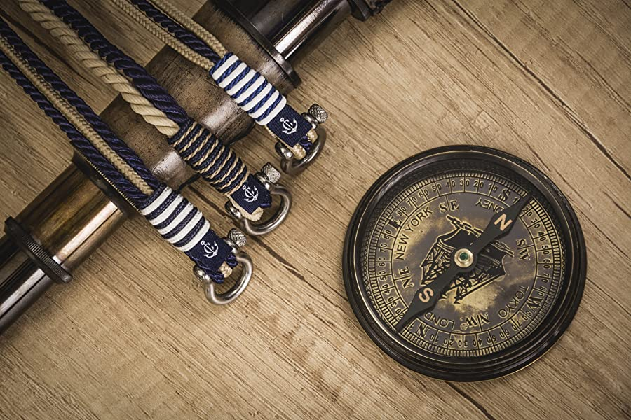 Nautical Bracelets by Constantin Nautics Awesome Handmade Bracelets of Nautical Sailing Rope- Large Variety with Stainless Steel Screw Barrel Clasps - Gift Idea for Men & Women …