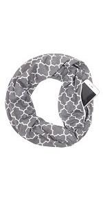 zipper pocket scarf