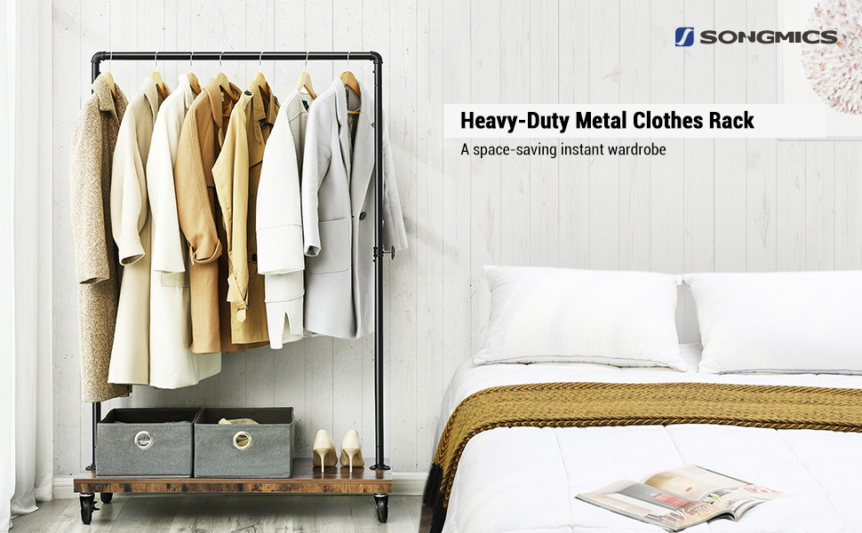 Heavy-Duty Clothes Rack