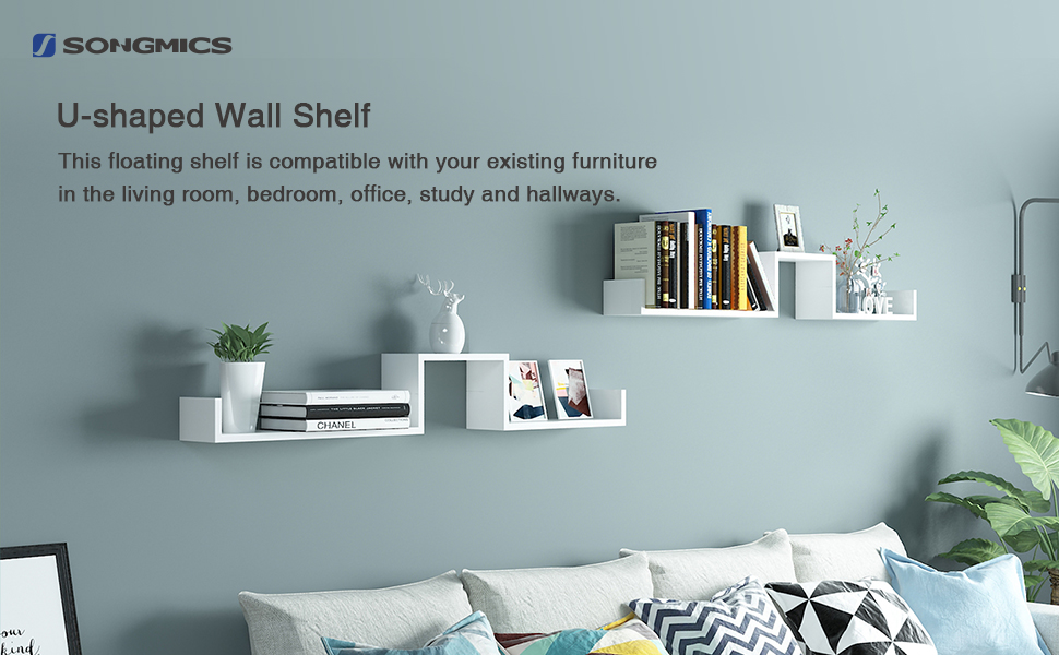 Songmics Wall Shelf Set Of 3 Floating Shelves Storage 60
