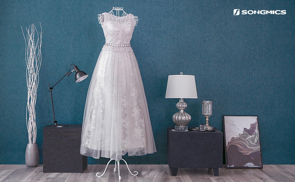 SONGMICS Metal Wire Dress Form Female Mannequin Adjustable Height ...