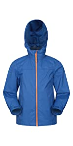 Boys Kids Waterproof Coat Jacket Top Trousers Pants Outdoor Parka Mac Raincoat