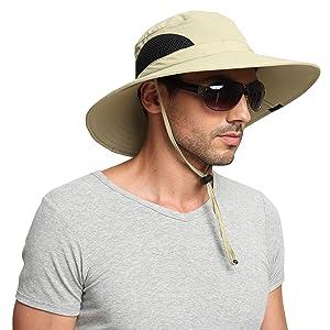 Details about EINSKEY Mens Sun Hat Summer Unisex UV Protection Beach Hat  Wide Brim Bucket. 4cbeba87f2b