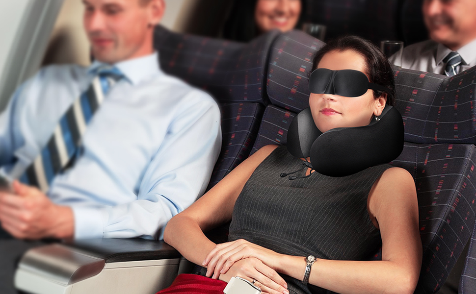 DYD Travel Pillow Memory Foam Neck