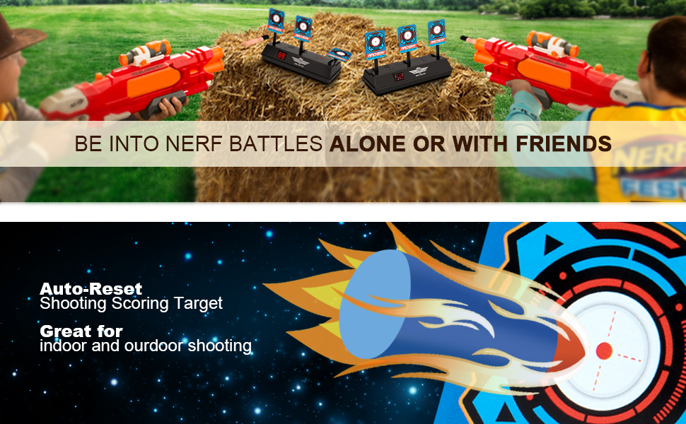 Be into Nerf Battles Alone or with Friends