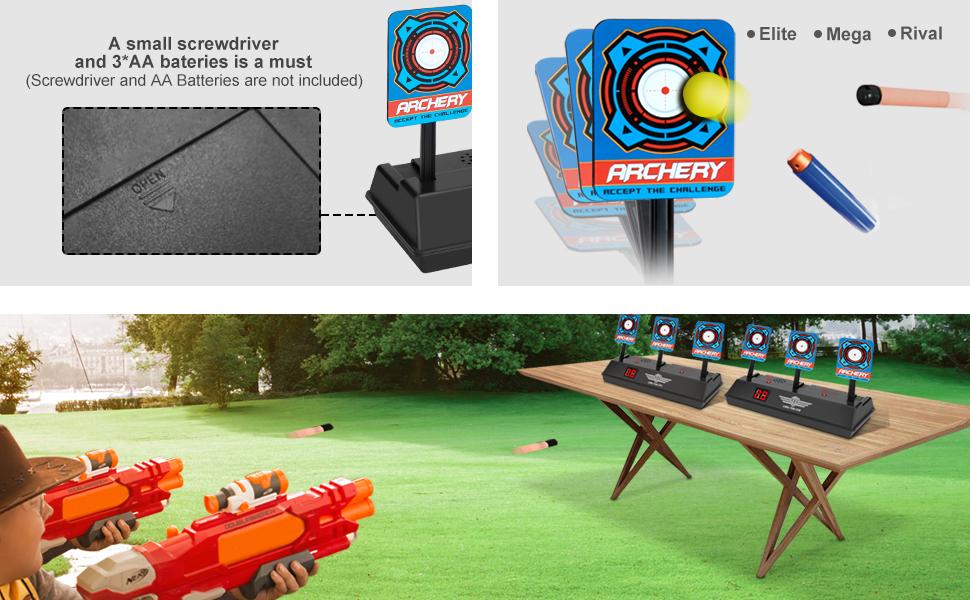 electronic digital target