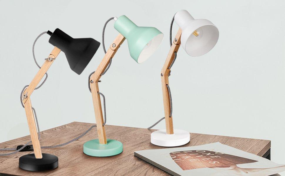 Tomons Wood Swing Arm Desk Lamp Designer Table Lamp