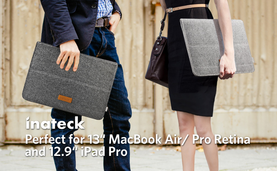 48a76873fe4f Details about Inateck 13 Inch Felt Laptop Sleeve with Stand Function for  MacBook Pro