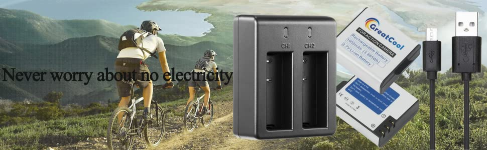 action camera cam charger battery