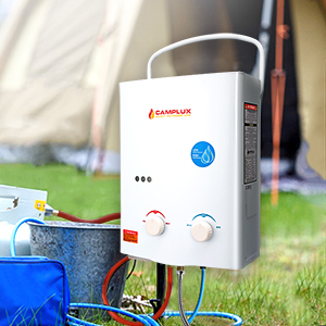 Camplux AY132 Tankless Propane Gas Water Heater White 5L: Amazon ...
