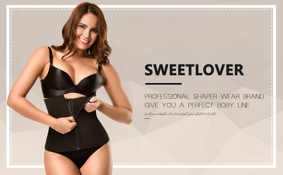 Sweetlover Corset Shaper Latex Cincher Womens Sport Protect The Waist Lose Weight Hot Sweat Shapewear Clothes 7 Steel Boned Adjustable Double Belt