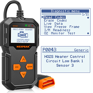 NEXPEAK OBD2 Reader NX301 Universal OBDII Car Diagnostic