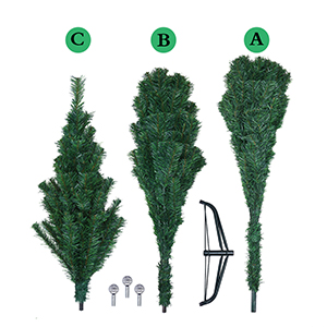 Artificial Christmas Tree Assembly Instructions.Veylin 6ft Christmas Tree 700 Tips Artificial Tree With Metal Stand