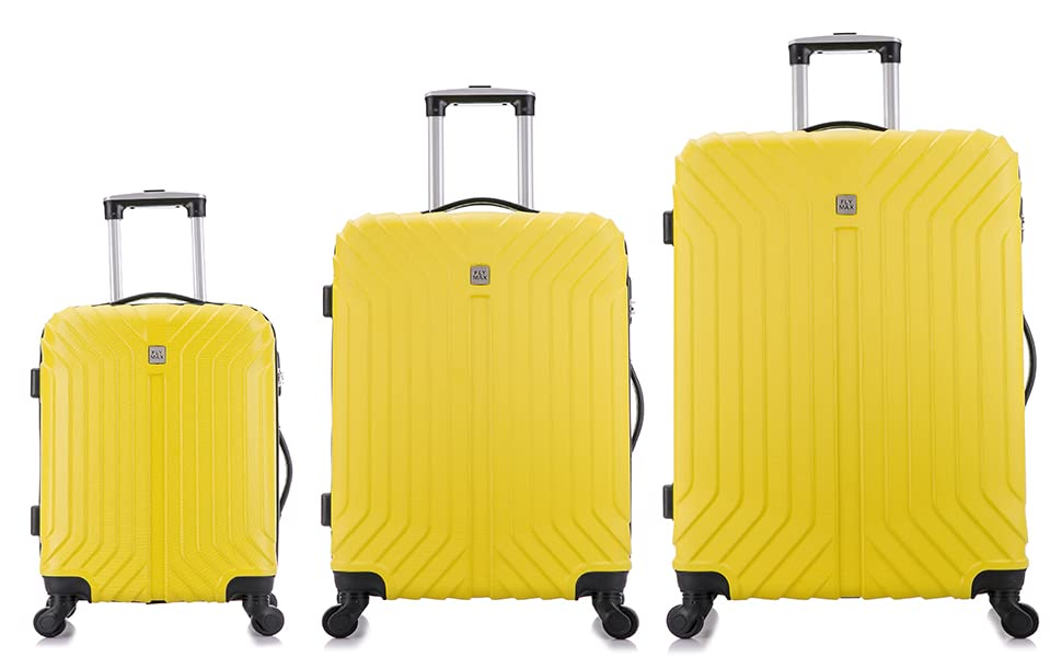 ABS 4 Wheel Lightweight Hard Shell Luggage Suitcases Large Cabin Medium