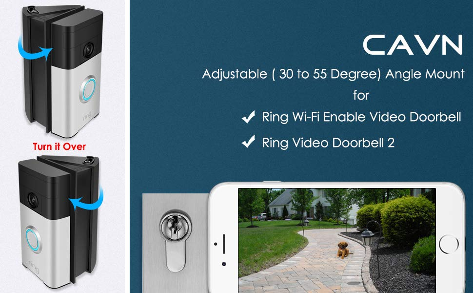 Wi-Fi Enable 30 to... CAVN Adjustable Angle Mount for Ring Video Doorbell 2