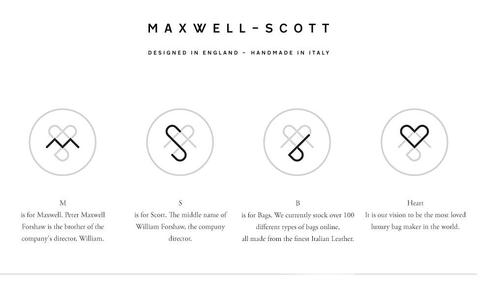 maxwell scott Italian leather brand