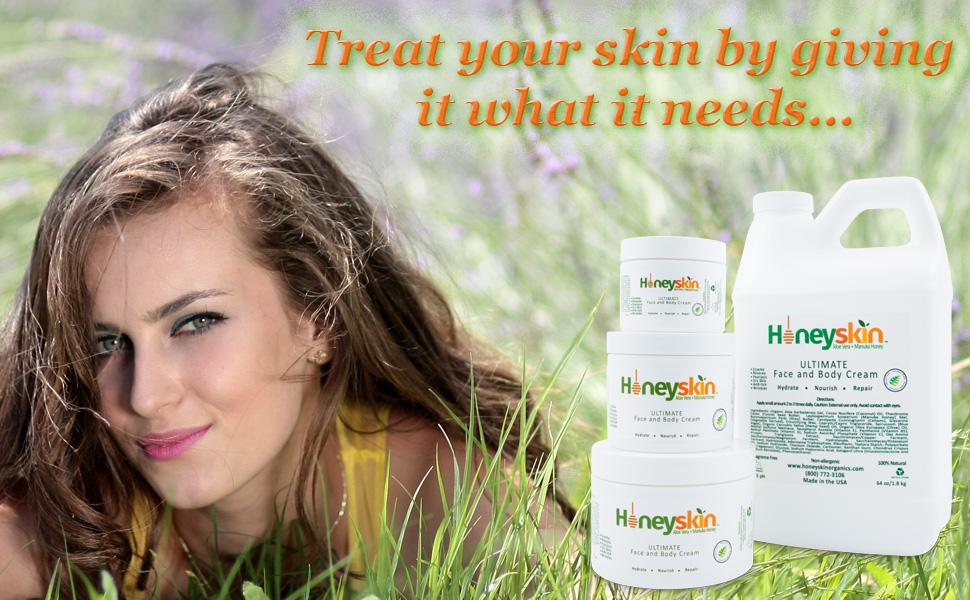 honeyskin face and body cream ultra repair cream