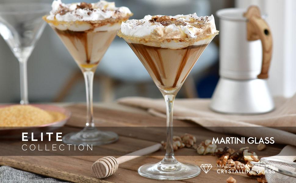 Krosno Elite Glass Martini Glasses