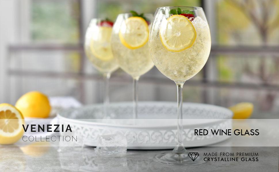 Krosno red wine glasses venezia