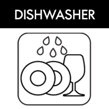 Dishwasher safe glass