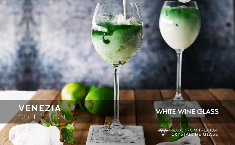 Krosno venezia White Wine Glasses