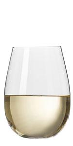 Stemless White wien glass