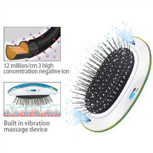 Ionic Hair Brush Mini Portable Electric Comb Anti Static Combized Ionic Hair Straightener brushVibrating Massage Scalp for Straightener Curly Hair