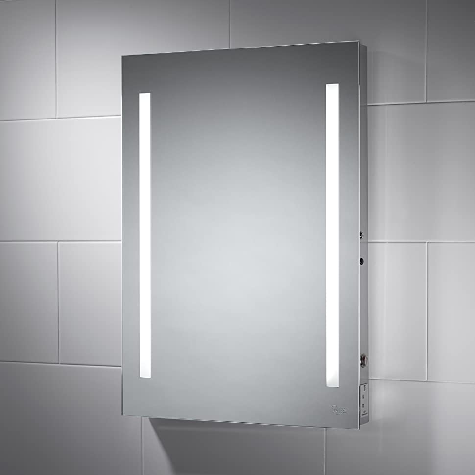 Pebble Grey 500 x 700 mm Ashby LED Illuminated Bathroom Mirror ...