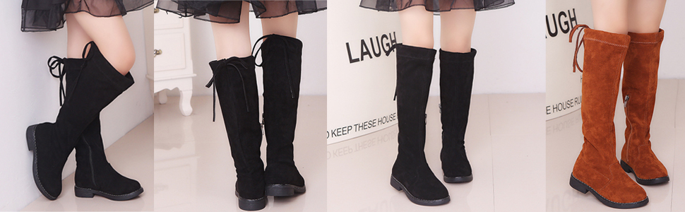 Knee Zipper High Boots(Little Kids