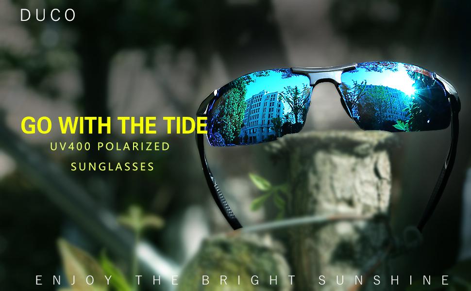 d25c71ade21 DUCO Men s Driving Sunglasses Polarised Glasses Sports Eyewear ...